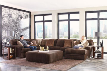 Picture of CHAMBERS CHOCOLATE 3PC SECTIONAL - 4376