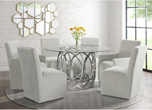 Picture of MERLIN ROUND 5PC DINING SET - ML100