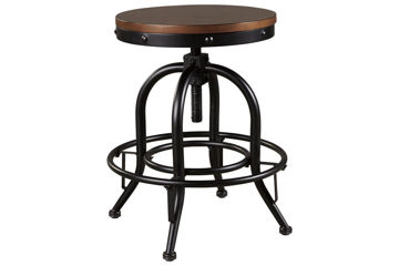 """Picture of VALEBECK SWIVEL 24"""" COUNTER STOOL - D546"""
