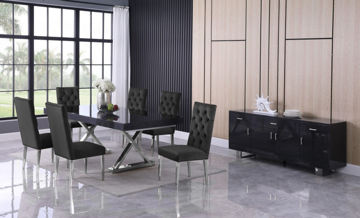 Picture of STRATOS BLACK 7PC DINING SET - 998/729
