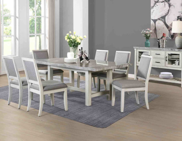 Picture of CANOVA MARBLE TOP 7PC DINING SET - CV500