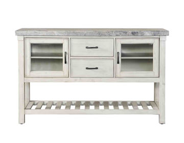 Picture of CANOVA GREY MARBLE TOP DINING SERVER - CV500