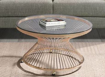 Picture of LAVINIA GOLD COFFEE TABLE - LV200