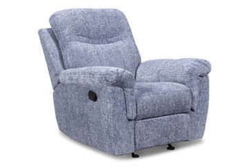 Picture of SHEFFIELD BLUE GLIDER RECLINER - U2432