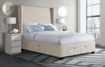 Picture of MAGNOLIA QUEEN UPHOLSTERED STORAGE BED - 3152