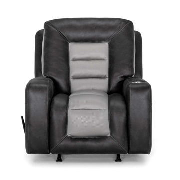 Picture of BRANSON 2 TONE GREY RECLINER - 4576