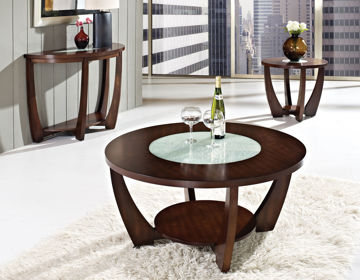 Picture of RAFAEL MERLOT ROUND END TABLE - RF300