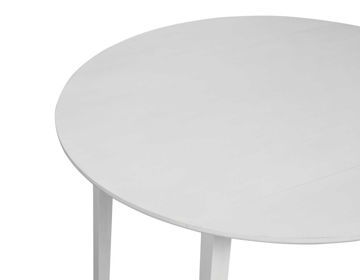 Picture of NAPLES WHITE DROP LEAF DINING TABLE - NA500