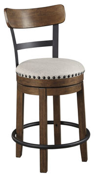 """Picture of VALEBECK BROWN 24"""" SWIVEL COUNTER STOOL - D546"""