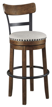 """Picture of VALEBECK BROWN 30"""" SWIVEL BARSTOOL - D546"""