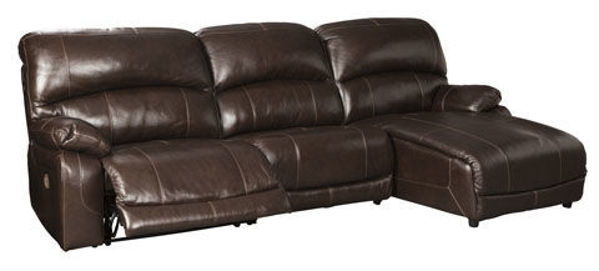 Picture of BIG CHIEF CHOCOLATE RAF CHAISE SOFA - U524