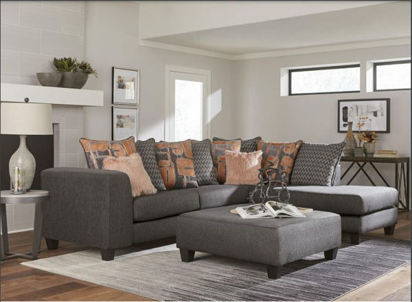 Picture of MACKENZIE GREY 2PC SECTIONAL - 3068