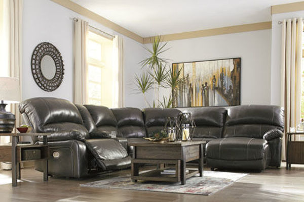 Picture of BIG CHIEF GREY RAF CHAISE POWER RECLINING SECTIONAL - U524