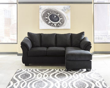 Picture of SONNEY BLACK SOFA CHAISE - 75008