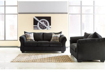Picture of SONNEY BLACK LOVESEAT - 75008