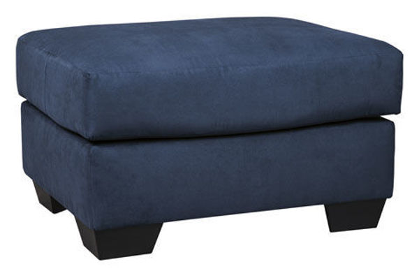 Picture of SONNEY BLUE OTTOMAN - 75007