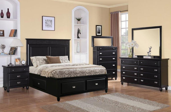 Picture of SPENCER BLACK QUEEN STORAGE BED - SP850