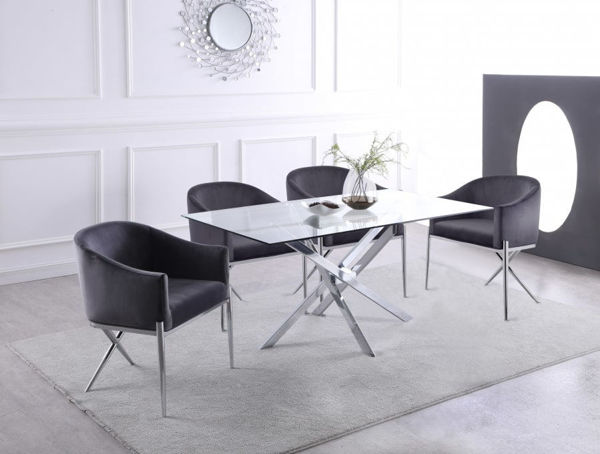 Picture of XANDER CHROME DINING TABLE - 901