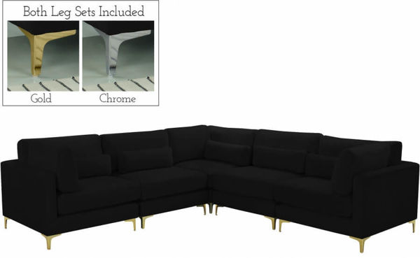 Picture of JULIA BLACK 5PC SECTIONAL - 605