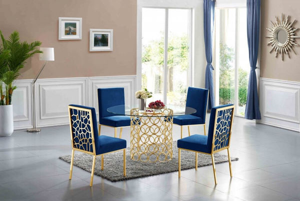 """Picture of OPAL 54"""" GLASS DINING TABLE"""