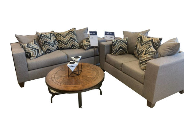 Picture of POLAND GRAY LOVESEAT - 110