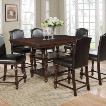 Picture of LANGLEY BLACK 5PC COUNTER DINING SET - 2766