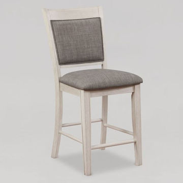 Picture of FULTON WHITE/NATURAL STOOL - 2727