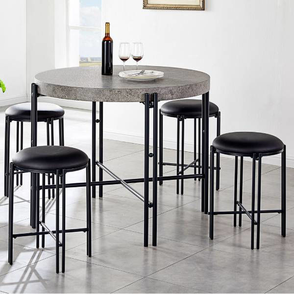 Picture of MORGAN 5PC COUNTER HEIGHT DINING SET - MG450
