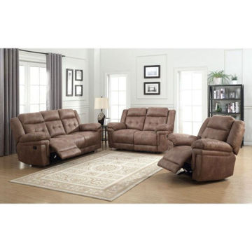 Picture of ANASTASIA COCOA RECLINING LOVESEAT - AT850