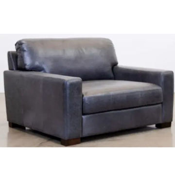 Picture of BECHAM GREY LEATHER CHAIR - 4522