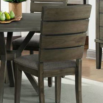 Picture of CATO GREY SLAT BACK SIDE CHAIR - DCT350
