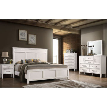 Picture of DELIA WHITE KING BED SET - 677