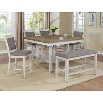 Picture of FULTON WHITE COUNTER HEIGHT DINING SET - 2727