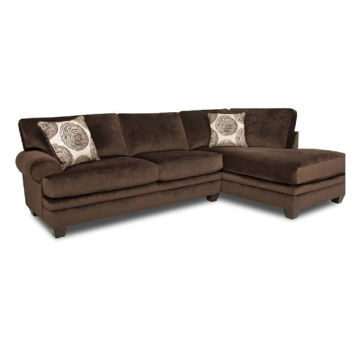 Picture of GROOVY CHOCOLATE SECTIONAL - 1025