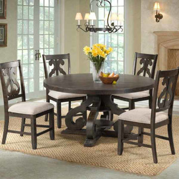 Picture of MORRISON ROUND 5PC DINING SET - 180