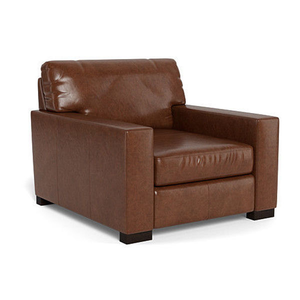 Picture of BECHAM CHESTNUT LEATHER CHAIR - 4522