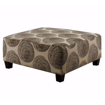 Picture of GROOVY GREY OTTOMAN - 1025