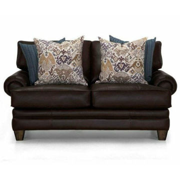 Picture of MONACO CHOCOLATE LEATHER LOVESEAT - 957