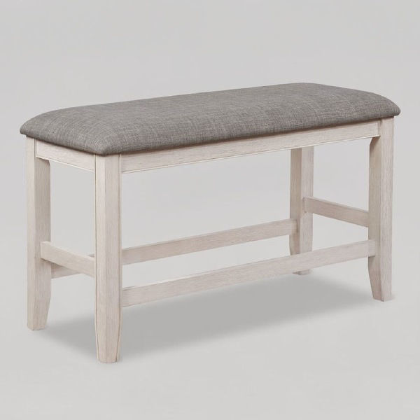 Picture of FULTON WHITE/NAT DINING BENCH