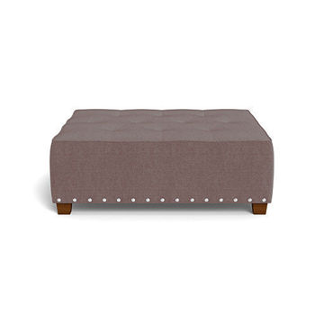 Picture of ARIEL CHARCOAL TUFTED OTTOMAN - 3293