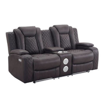 Picture of DYER CHOCOLATE CONSOLE RECLINING LOVESEAT - U1716