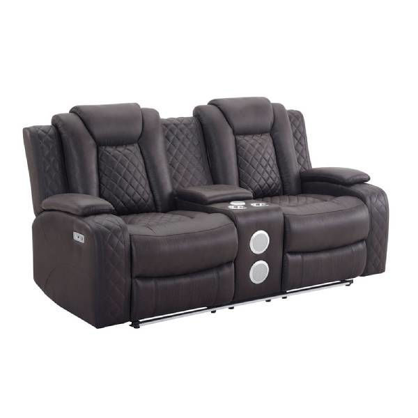 Picture of DYER CHOCOLATE RECLINING SOFA/LOVE - U1716