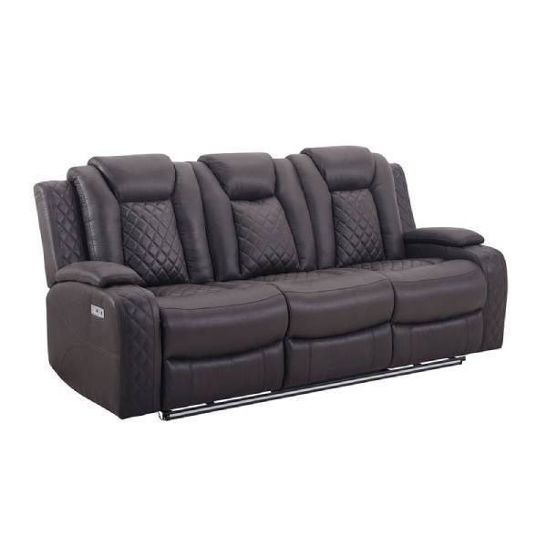 Picture of DYER CHOCOLATE RECLINING SOFA - U1716