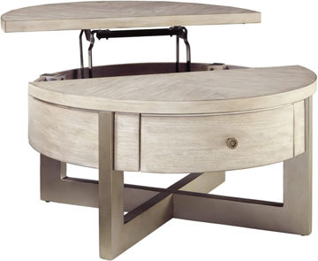 Picture of APOLLO ROUND LIFT TOP COCKTAIL TABLE - T673