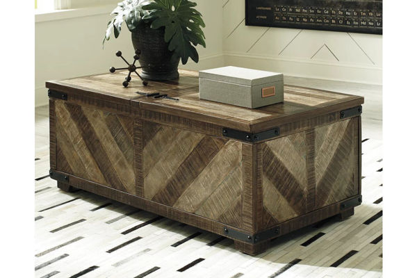 Picture of CORDAYNE STORAGE COCKTAIL TABLE - T849