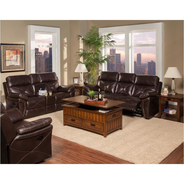 Picture of GALAXY CHOCOLATE POWER CONSOLE LOVESEAT - 326