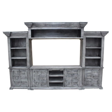 Picture of CHALET GRANITE 4PC ENTERTAINMENT WALL - 526
