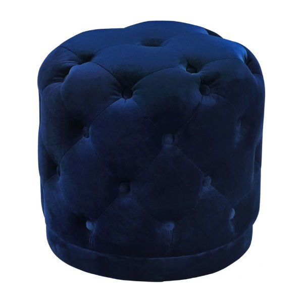 Picture of HARPER NAVY BLUE OTTOMAN - 136