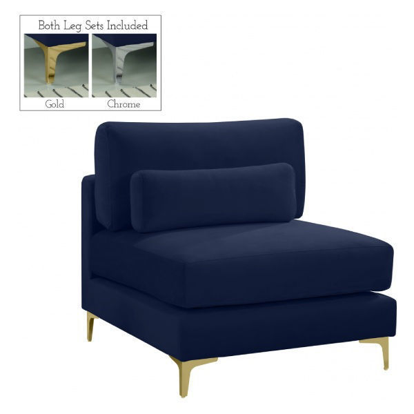 Picture of NAVY ARMLESS CHAIR